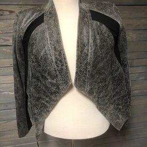 PURE DKNY leather Ponte jacket